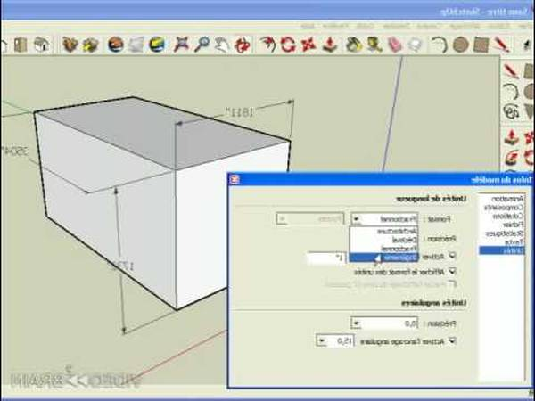 cours sketchup pour debutant